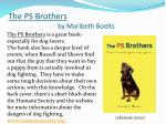 the ps brothers by maribeth boelts1