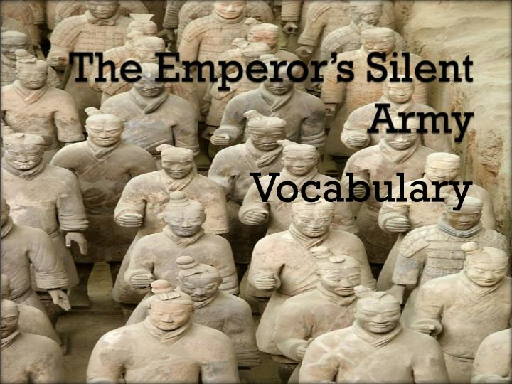the emperor s silent army n.