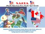 n a f t a north american free trade agreement