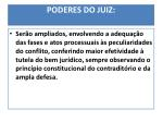 poderes do juiz