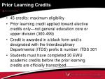 prior learning credits