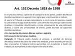 art 152 decreto 1818 de 1998