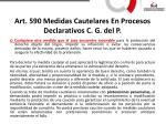 art 590 medidas cautelares en procesos declarativos c g del p