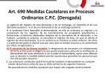 art 690 medidas cautelares en procesos ordinarios c p c derogada1