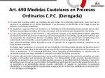 art 690 medidas cautelares en procesos ordinarios c p c derogada2
