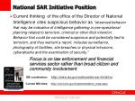 national sar initiative position