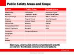public safety areas and scope