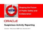 suspicious activity reporting