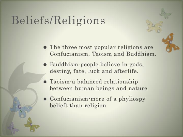 Beliefs religions