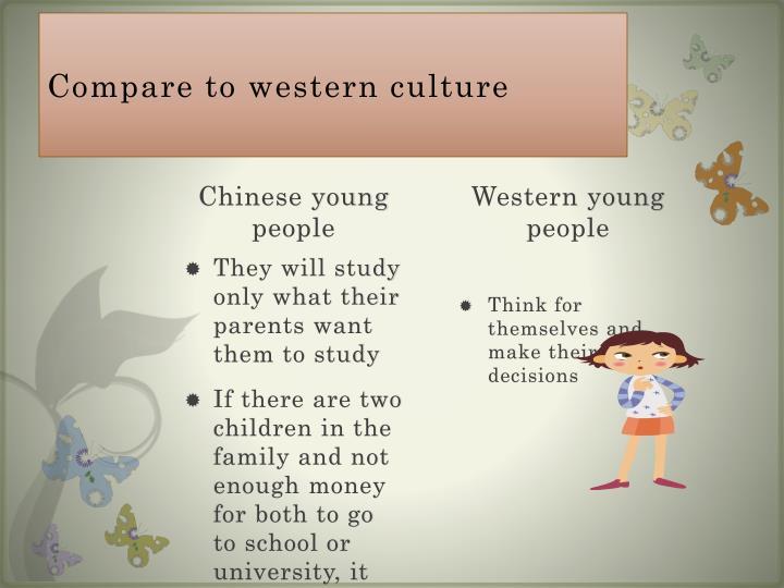 Compare to western culture