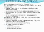british plan for defense