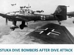 stuka dive bombers after dive attack