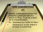 epic conventions 5