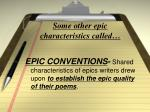 some other epic characteristics called