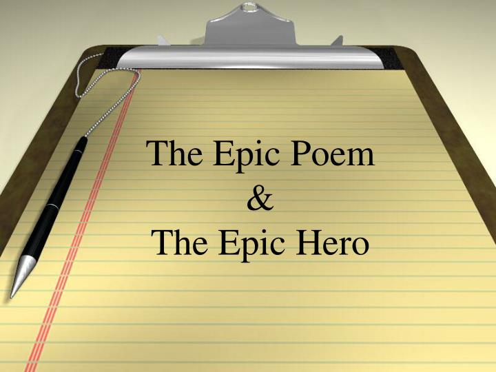 the epic poem the epic hero n.