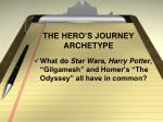 the hero s journey archetype