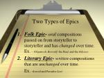 two types of epics