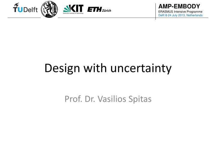 design with uncertainty n.