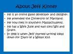 about jeff kinney