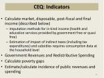 ceq indicators