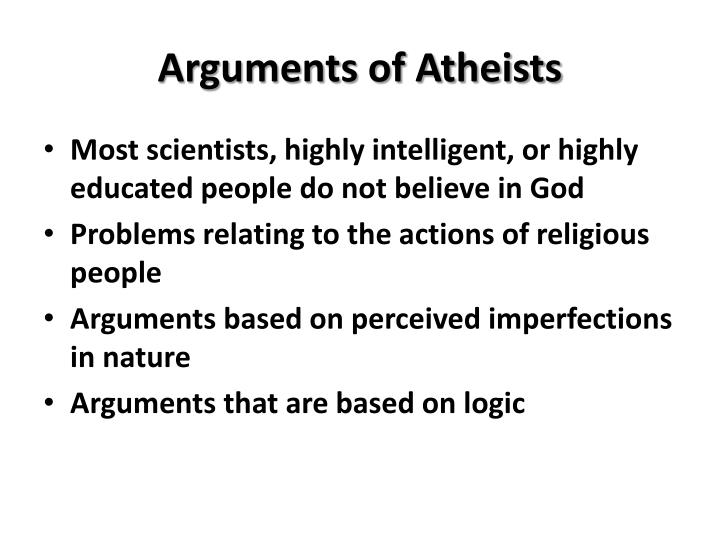 arguments of atheists n.