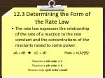12 3 determining the form of the rate law