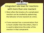 integrated rate laws for reactions with more than one reactant
