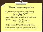 the arrhenius equation