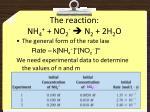 the reaction nh 4 no 2 n 2 2h 2 o