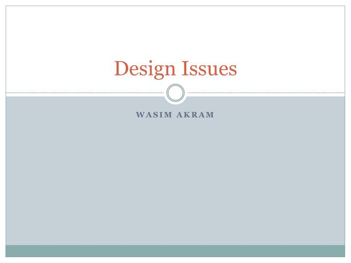 design issues n.