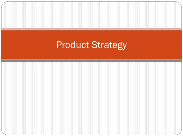 product strategy n.
