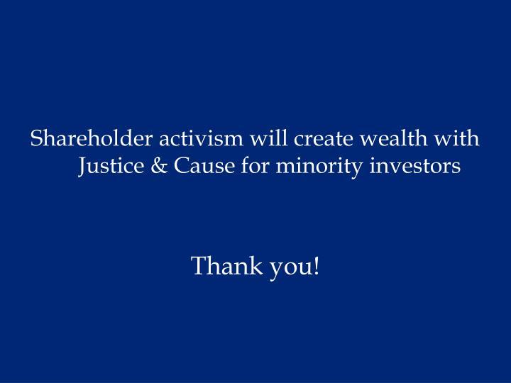 Shareholder activism will create w