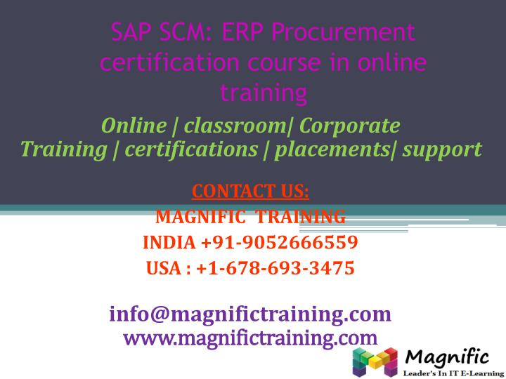 sap scm erp procurement certification course in online training n.