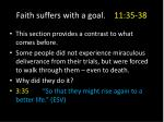 faith suffers with a goal 11 35 381