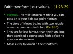 faith transforms our values 11 23 292