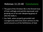 hebrews 11 23 40 conclusions4