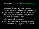 hebrews 11 23 40 conclusions6