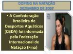doping na nata o dezembro de 2007