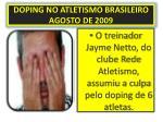 doping no atletismo brasileiro agosto de 2009