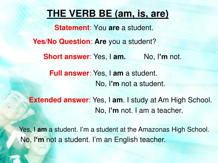 the verb be am is are n.