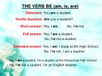 the verb be am is are