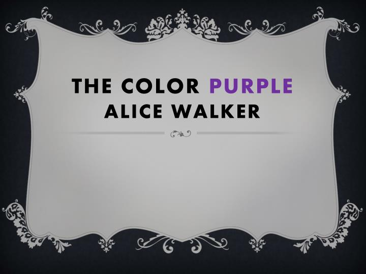 the color purple alice walker n.