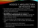 nodos y arquitectura de nodos atm