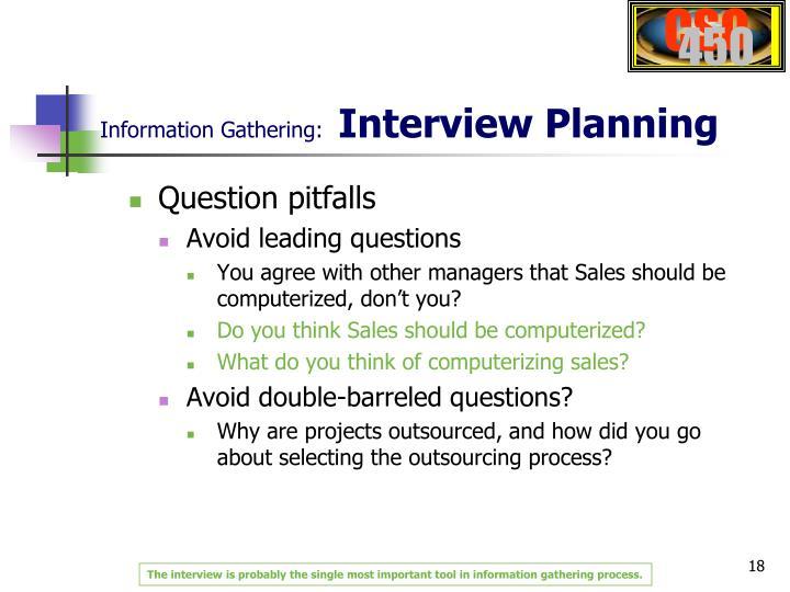 Information Gathering:
