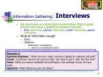 information gathering interviews
