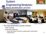 system engineering analysis need identification process