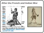 after the french and indian war