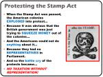 protesting the stamp act