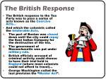 the british response