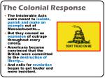 the colonial response